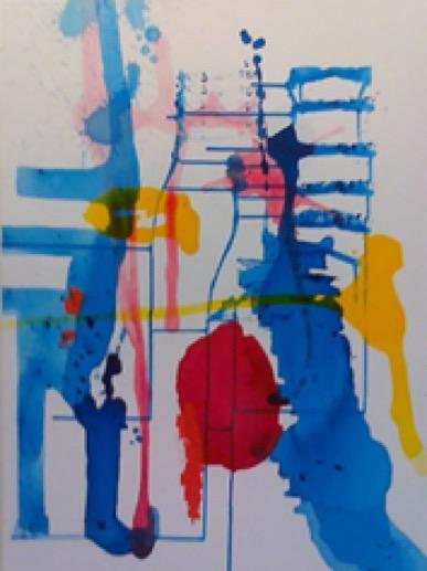 ohne Titel Acryl auf Nessel 80 x 60 cm