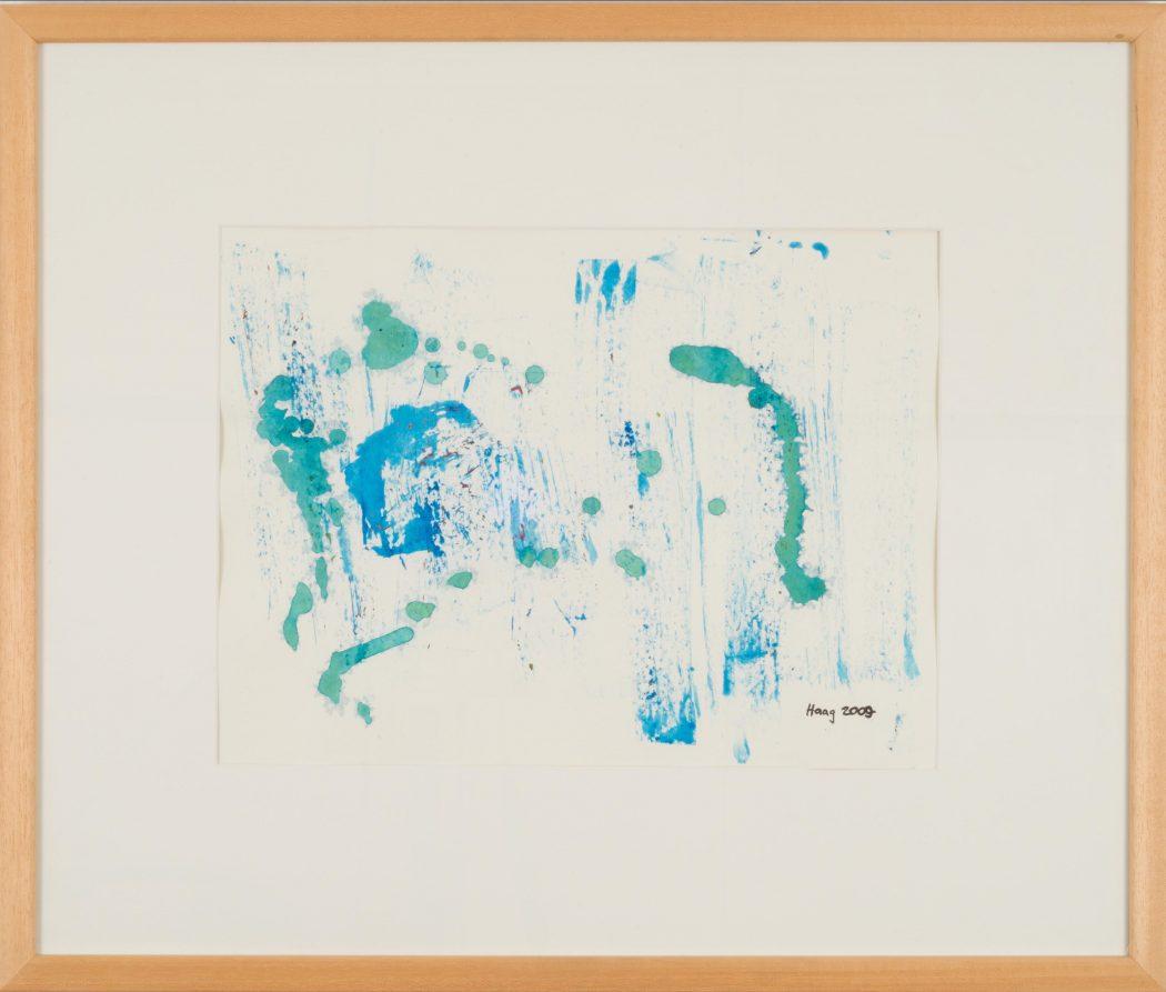 Stille Betrachtung Acryl auf Papier mit Rahmen 50 x 60 cm