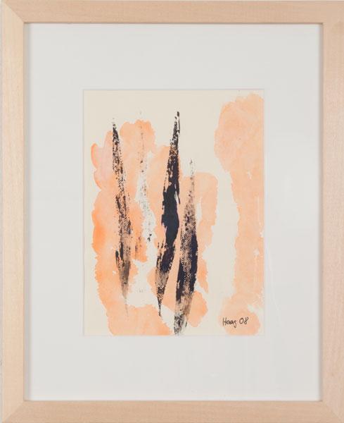 So nah und so fern Acryl auf Papier 32 x 26 cm mit Rahmen