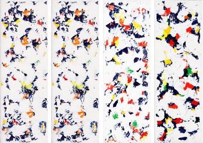 Expedition Acrylic on canvas each 60 x 20 cm
