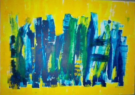 ohne Titel Acryl auf Nessel 50 x 70cm