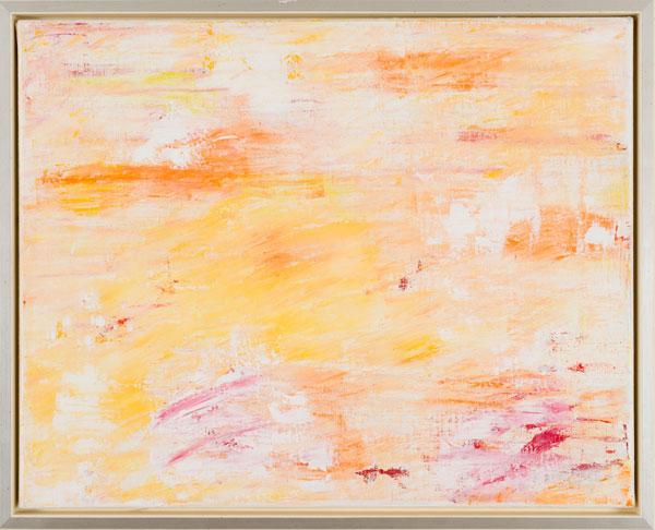Silent comtemplation Acrylic on canvas with shadow gap 45 x 54 cm