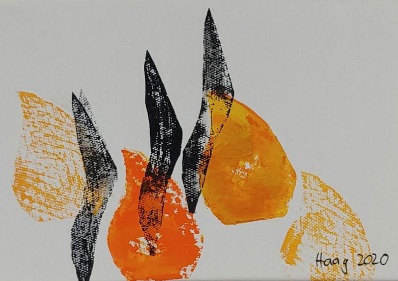 Aufschwung, Acryl auf Papier, 24 x 30 cm mit Rahmen