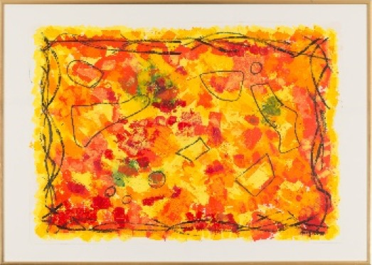 Enjoyment of life Acrylic on paper, with frame 50 x 70 cm