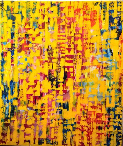 Sonniges Leben Acryl auf Leinen 120 x 140 cm