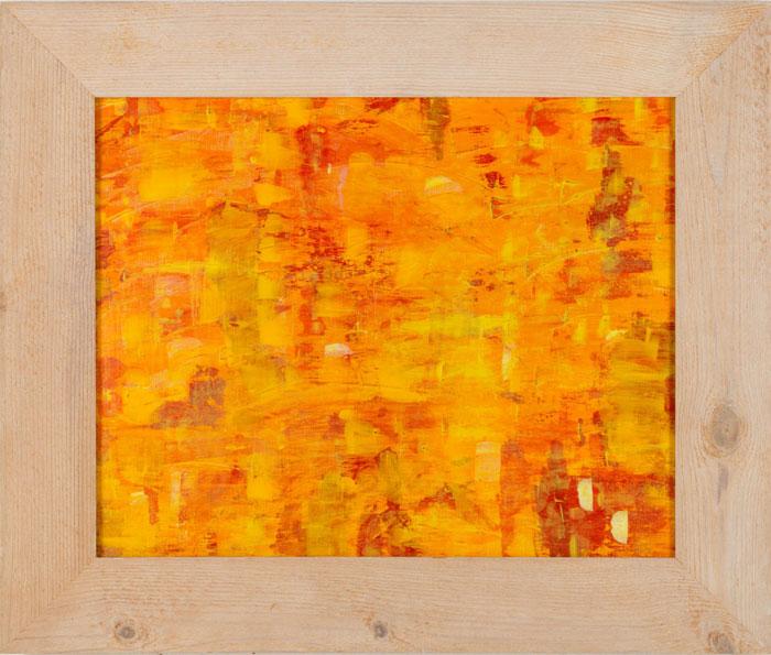 Bewegung II Acryl auf Papier mit Rahmen 60 x 70 cm