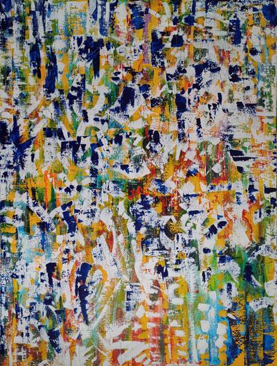 o.T., Acryl auf Leinen, 180 x 140 cm