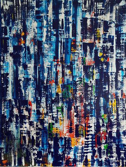 Vielfalt des Lebens, Acryl auf Leinen, 180 x 140 cm