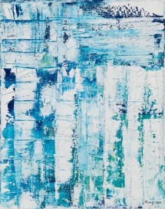 Vielfalt Acryl auf Leinen 50 x 40 cm