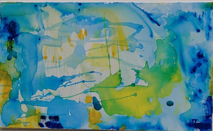 it's all happening in the universe, 2021, Acrylic on canvas, 60 x 100 cm